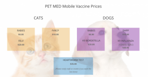 Pet Med Mobile Vaccine Prices
