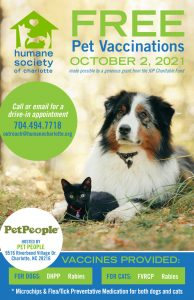 Free Pet Vaccinations at the Humane Society of Charlotte